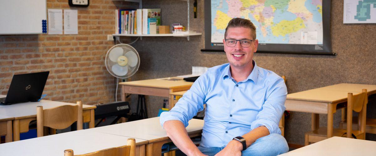 Gerhard Boersema in de klas